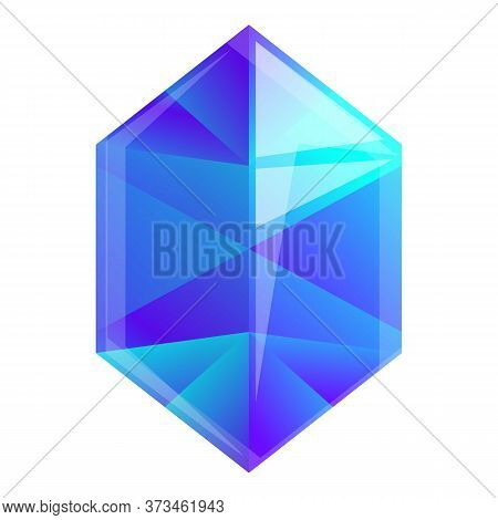 Game Blue Gemstone Icon. Cartoon Of Game Blue Gemstone Vector Icon For Web Design Isolated On White