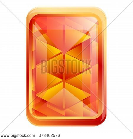 Shape Gemstone Icon. Cartoon Of Shape Gemstone Vector Icon For Web Design Isolated On White Backgrou