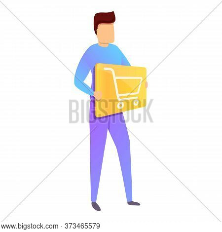 Young Purchasing Manager Icon. Cartoon Of Young Purchasing Manager Vector Icon For Web Design Isolat