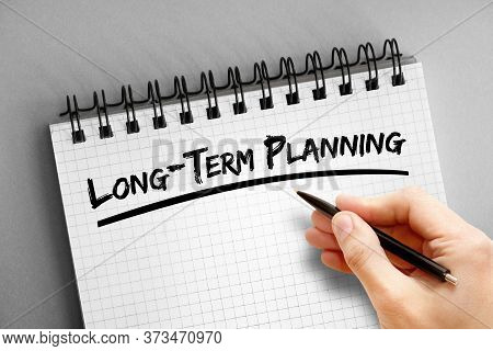 Long-term Planning Text On Notepad, Health Concept Background