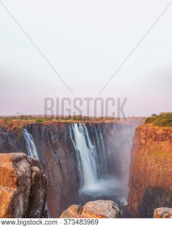 Victoria Falls, Zambia Side From Zimbabwe, Top View