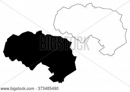 Da Lat City (socialist Republic Of Vietnam, Central Highlands Region) Map Vector Illustration, Scrib