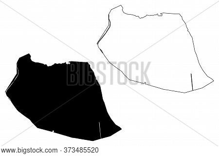 Hanoi City (socialist Republic Of Vietnam, Hong River Delta Or Red River Delta Region) Map Vector Il