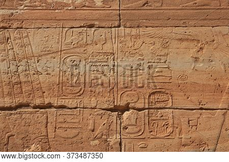 Ancient Egyptian Temple Of Tutankhamun On Soleb Island, Sudan, Nubia
