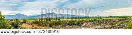 Montenegrin Vineyard In Mountains Near Niagara Fall