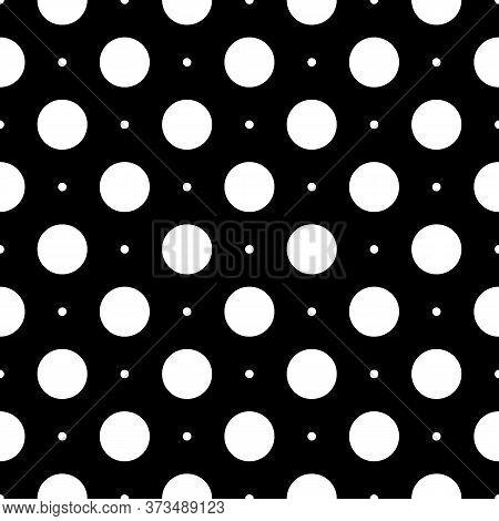 Seamless Circles Pattern. Polka Dot Ornament. Dots Image. Circular Figures Backdrop. Rounds Backgrou
