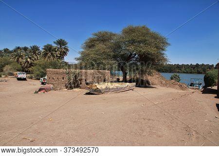 Sai Island / Sudan - 23 Feb 2017: Ruins Of Ancient Egyptian Temple On Sai Island, Nubia, Sudan