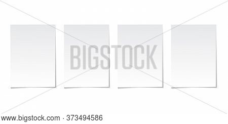 Vector Collection Of Paper Sheets On Grey Background