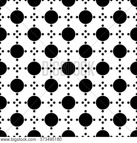 Circles Seamless Pattern. Dot Ornament. Dots Image. Tribal Backdrop. Rounds Background. Dotted Motif