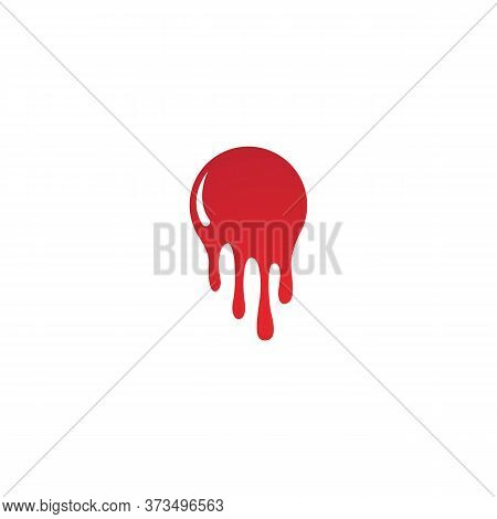 Dripping Paint Icon Logo. Current Liquid. Paint Flows. Melted Circle Logo. Current Paint Stains. Cur
