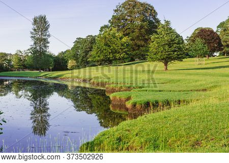 A Bend In The River Bela At Dallam Park, Milnthorpe, Cumbria, England