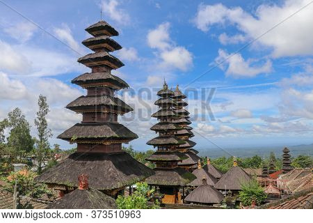 Interesting View To The Amazing Roofs Of The Besakih Temple, Bal
