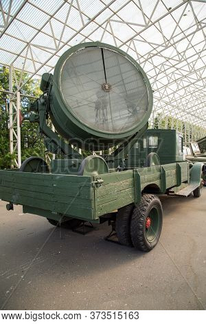 Automotive Anti-aircraft Searchlight Station, Ussr. Military Equipment Of The Second World War.