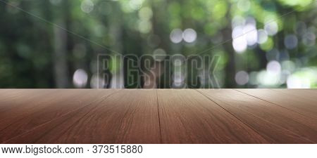 Perspective Empty Wood Table Top