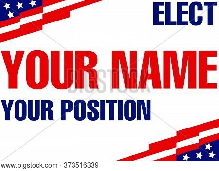 Custom Vote For Sign Election Voting Banner