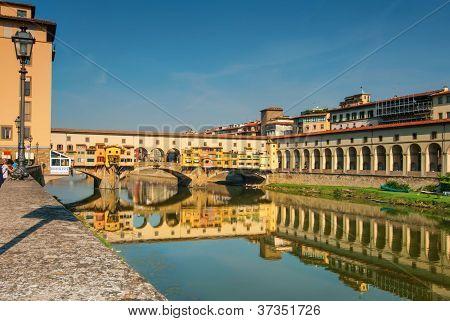 Ponte Vecchio Of Florence Italy