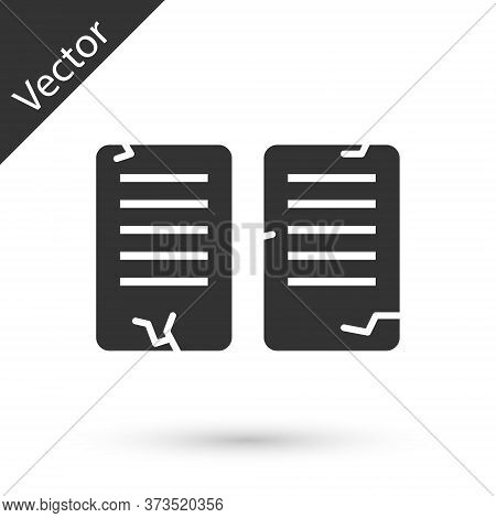 Grey The Commandments Icon Isolated On White Background. Gods Law Concept. Vector Illustration