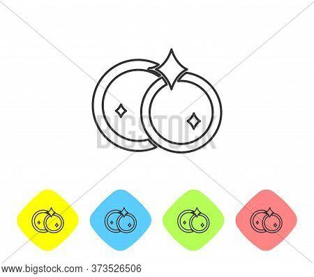 Grey Line Washing Dishes Icon Isolated On White Background. Cleaning Dishes Icon. Dishwasher Sign. C