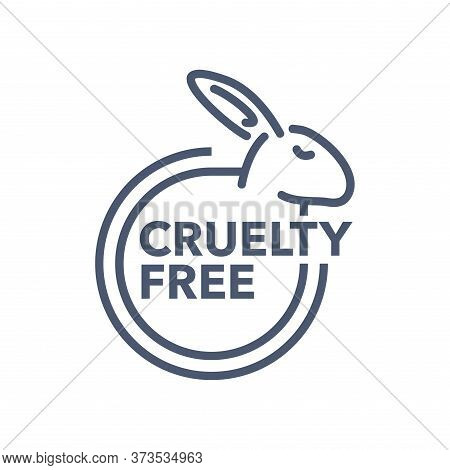 Cruelty Free Sign - Emblem For Products That Not Tested On Animals - Cosmetics Packaging Marking - W