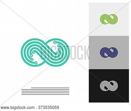 Infinity Tech Logo Vector Template, Creative Infinity Logo Design Concept