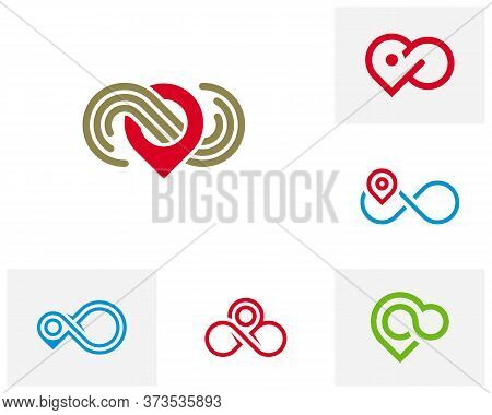 Set Of Infinity Point Logo Vector Template, Creative Infinity Logo Design Concept
