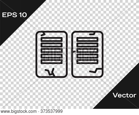 Black Line The Commandments Icon Isolated On Transparent Background. Gods Law Concept. Vector Illust