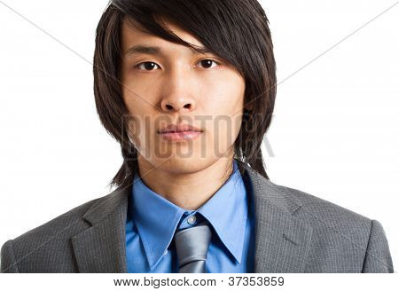 Portrait of an handsome businessman isolated on white