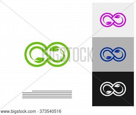 Infinity Leaf Logo Vector Template, Creative Infinity Logo Design Concept