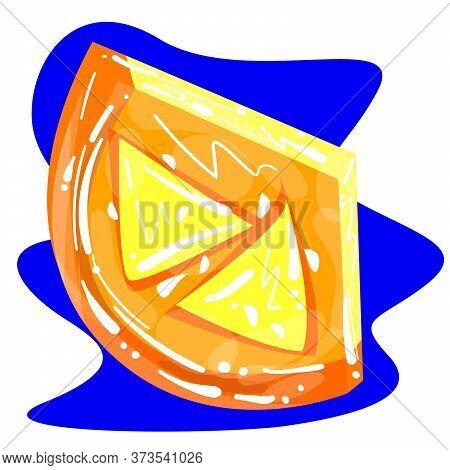 Stock Vector Illustration Of Orange Fruit Logo. Fresh Orange Slice For Poster, Print, Template, Card