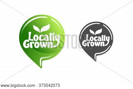 Locally Grown Stamp - Eco-friendly Emblem For Packaging Of Regional Farming Fruits Or Vegetables - I