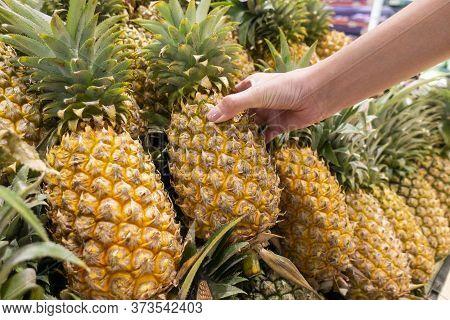 Pineapples In Supermarket