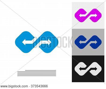 Arrow Infinity Logo Vector Template, Creative Infinity Logo Design Concept