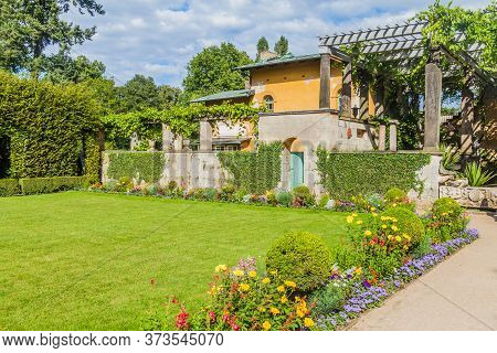 Roman Baths In Sanssouci Park In Potsdam, Germany