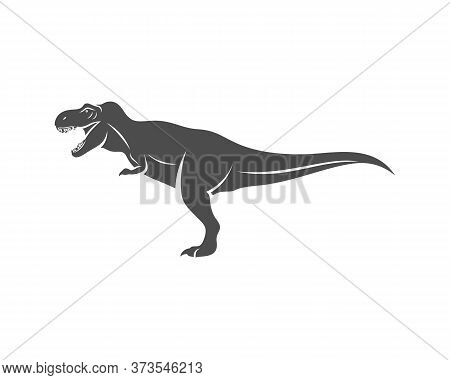 T Rex Logo Design Template. Vector Illustration