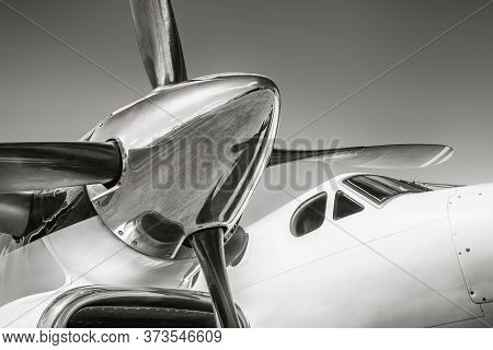 Close Up Of An Propeller From A Sports Plane