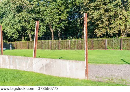 Remnants Of The Berlin Wall At Berlin Wall Memorial Gedenkstatte Berliner Mauer In Berlin, Germany