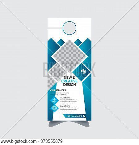 Modern Door Hanger Template, Corporate Business Flyer, Flyer Concept, Colors Scheme, Cooperate Door