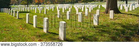 Arlington Usa- October 26 2014; Arlington National Cemetery Historic Graveyard Of National Serviceme
