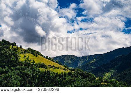 Mountains Of European Alps At Hohe Tauern In Salzburg, Austria
