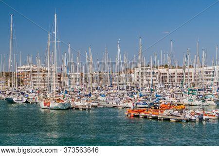 Lagos, Portugal - October 6, 2017: Boats In Lagos Marina, Portugal.