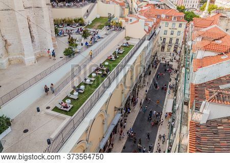 Lisbon, Portugal - October 8, 2017: Viewpoint At The Former Catholic Convent Of Our Lady Of Mount Ca