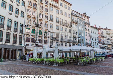 Coimbra, Portugal - October 12, 2017: Praca Do Comercio Square In Coimbra, Portugal