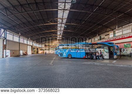 Coimbra, Portugal - October 13, 2017: Bus Station In Coimbra, Portugal