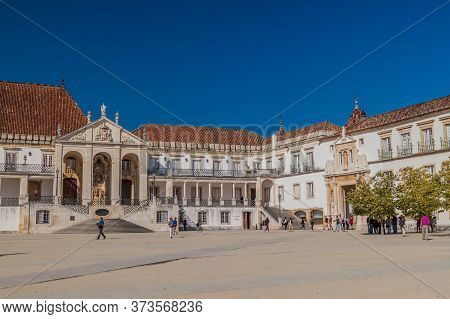 Coimbra, Portugal - October 13, 2017: Buildings Of The University Of Coimbra, Portugal