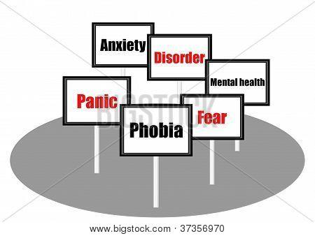 Phobia concept illustration