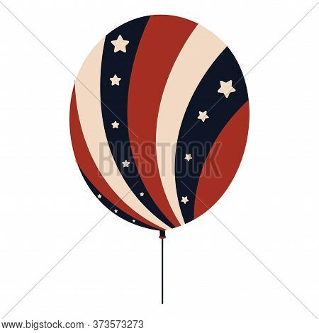 Balloon With Flag Of United States - Vector