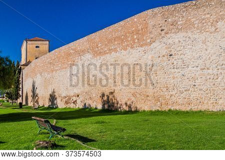 Fortification Walls Of The Old Town Cidade Velha Of Faro, Portugal.