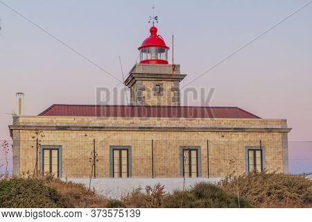 Lighthouse At Ponta Da Piedade Near Lagos, Portugal