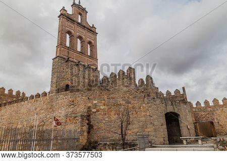 Fortification Walls And Carmen Bell Tower In Avila, Spain.