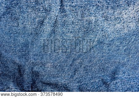 Blue Jeans Fabric. Denim Jeans Texture Of Denim Jeans Background. Denim Jeans For Fashion Design. He